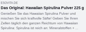 Facebook-Snippet: Das Original: Hawaiian Spirulina Pulver 225 g