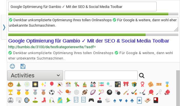 Darstellung von Emoji mit der Toolbar im Firefox