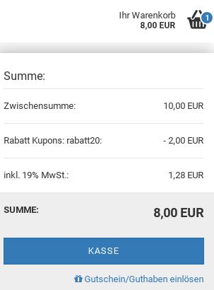 Ihr Warenkorb: 8,00 EUR