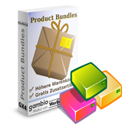Bunte Pakete vor der Product-Bundles-Softwarebox