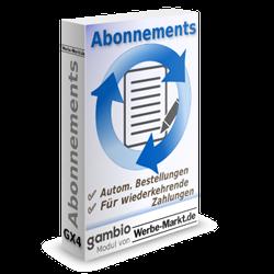 Abonnements Modul für Gambio GX3