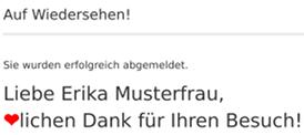 Liebe Erika Musterfrau, ❤lichen Dank für Ihren Besuch!