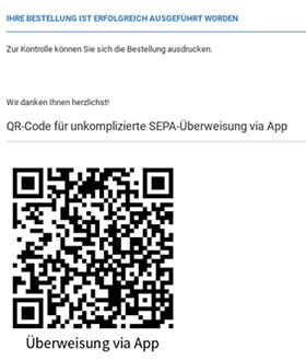 QR-Code für unkomplizierte SEPA-Überweisung via App