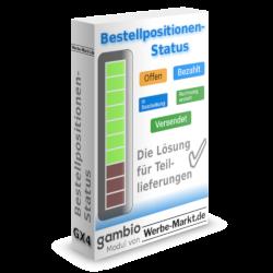 Bestellpositionen-Status Offen, Bezahlt, In Bearbeitung, Rechnung erstellt, Versendet ✅ Die Lösung für Teillieferungen. Gambio-Modul von Werbe-Markt.de