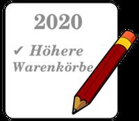 2020 ✔️ Höhere Warenkörbe