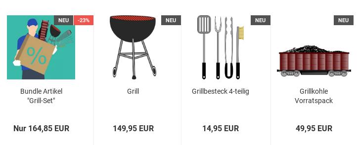 "Bundle Artikel ""Grill-Set"" NEU -23%"