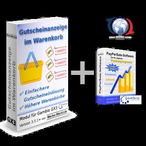 Gutscheinanzeige im Warenkorb Softwarebox + PayPerSale-Software Bug Fixes...