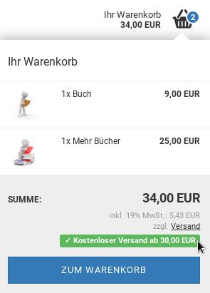 Ihr Warenkorb: 34,00 EUR ✓ Kostenloser Versand ab 30,00 EUR