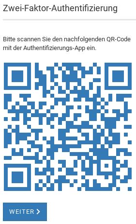 Zwei-Faktor-Authentifizierung QR-Code
