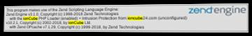 phpinfo()-Ausgabe mit ionCube markiert