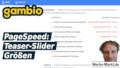 gambio PageSpeed: Teaser-Slider Größen