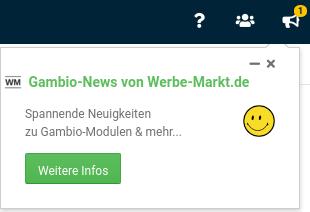 Gambio-News von Werbe-Markt.de Spannende Neuigkeiten zu Gambio-Modulen & mehr...