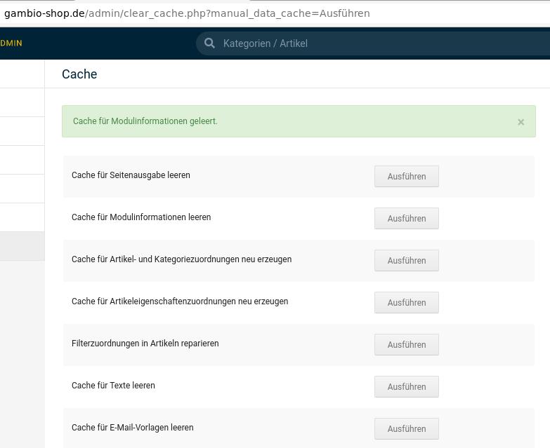 gambio-shop.de/admin/clear_cache.php?manual_data_cache=Ausführen Cache für Modulinformationen geleert.