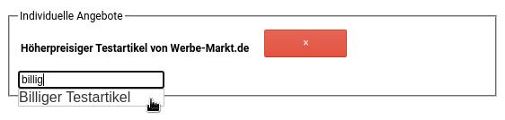 Individuelle Angebote Höherpreisiger Testartikel von Werbe-Markt.de