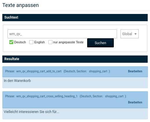 Texte anpassen, Suchtext: wm_qv, Textphrasen mit bearbeiten-Link