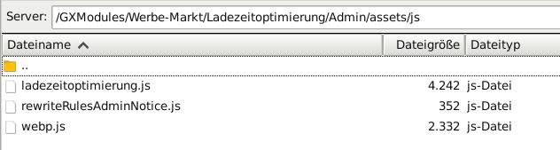 FileZilla Verzeichnis /GXModules/Werbe-Markt/Ladezeitoptimierung/Admin/assets/js