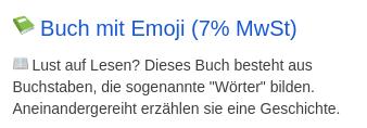 📗 Buch mit Emoji (7% MwSt)