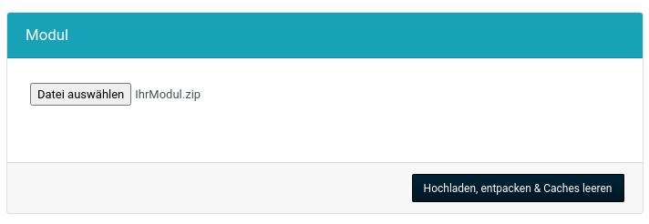 Modul-Upload Formular