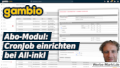 Gambio Abo-Modul: CronJob einrichten bei All-inkl
