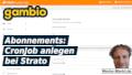 Gambio Abonnements: CronJob anlegen bei Strato